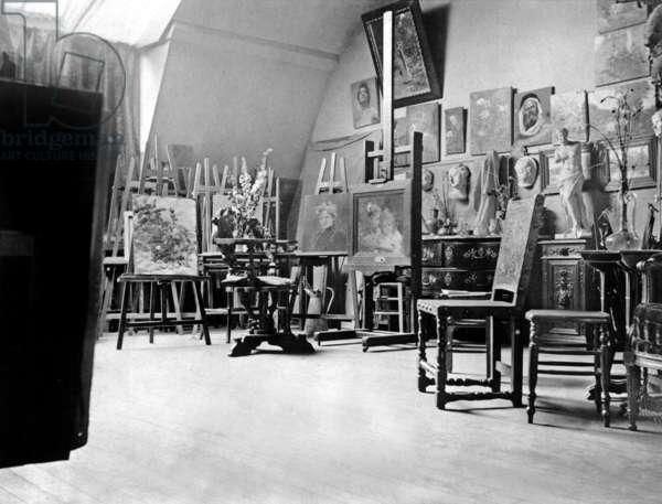 Workshop of painter Berthe Morisot (1841-1895) in Paris, 1892