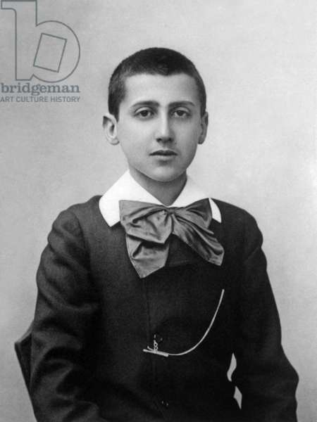 Marcel Proust (1871-1922) french writer, photo by Paul Nadar, 1887