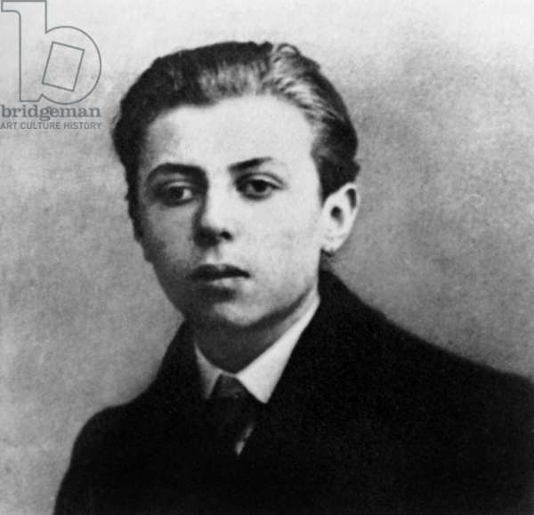 Jean-Paul Sartre (1905-1980) french writer and philosopher, here as a teenager, 1921