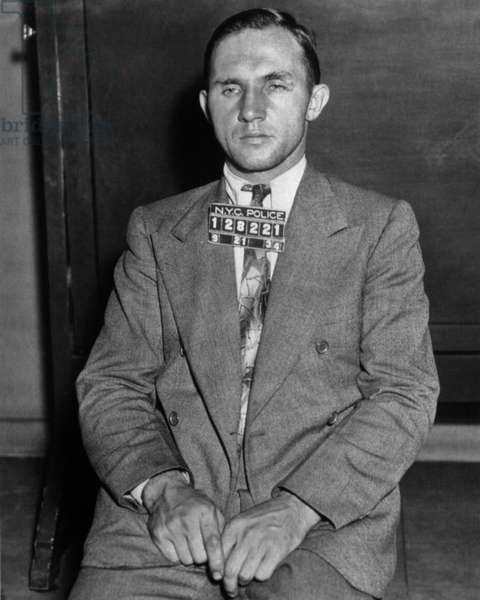 Lindbergh affair: Bruno Richard Hauptmann, accused of being the kidnapper and murderer of Ann Morrow and Charles Lindbergh's son, mugshot, New York police, september 21, 1934