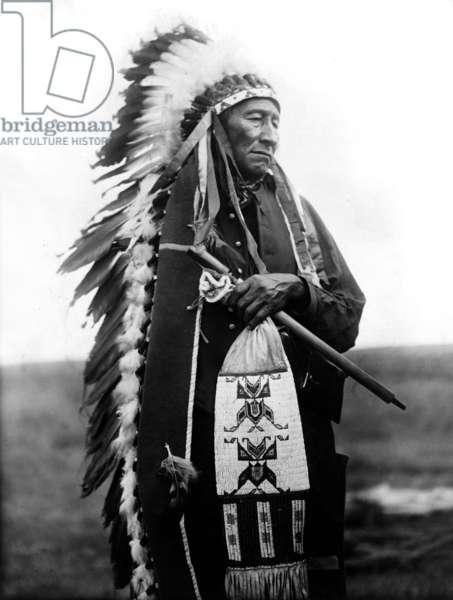 Stinking Bear, Oglala indian, Dakota, c. 1905, photo by Edward S. Curtis