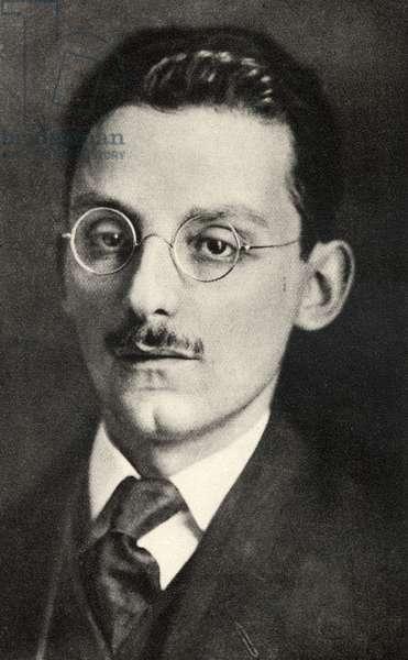 Max Brod (1884-1968) Czech-born writer and composer, Collaborator with LeosJanacek, FranzKafka connection, c. 1920