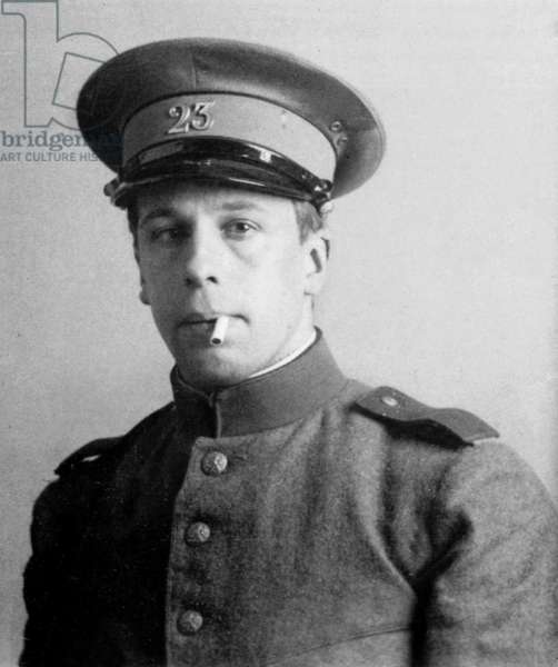Theo van Doesburg, as a Sergeant, durung the First World War, c.1915