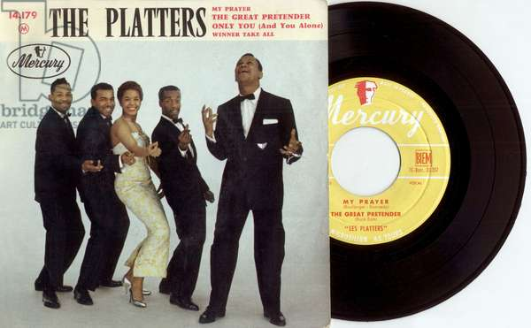 Single record sleeve of The Platters 1956