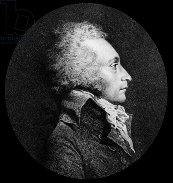 Alexandre de Beauharnais (1760-1794) french deputy, 1st husband of Josephine de Beauharnais, engraving
