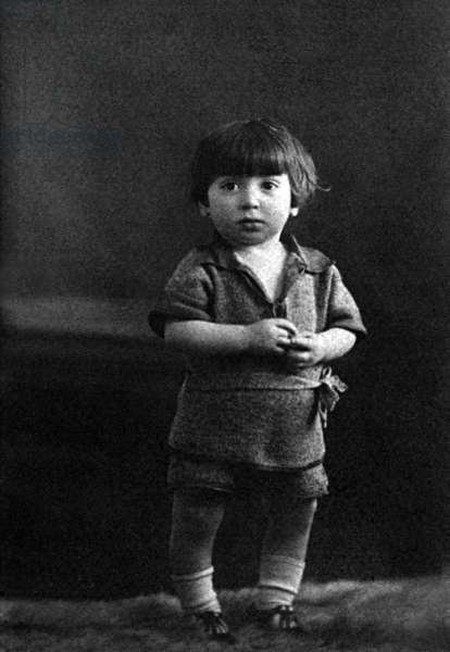 French singer Charles Aznavour, as a child, 1926 (b/w photo)