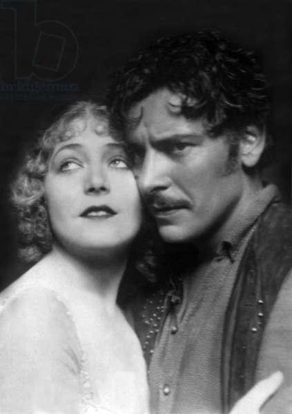 Vilma Banky (1898-1991) hungarian actress and Ronald Colman (1891-1958) anglish actor, c. 1920