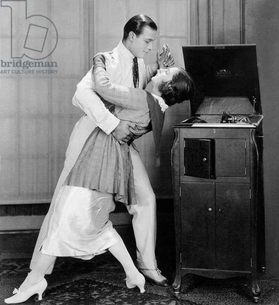 Actor Rudolph Valentino dancing with his wife Natacha Rambova c. 1923
