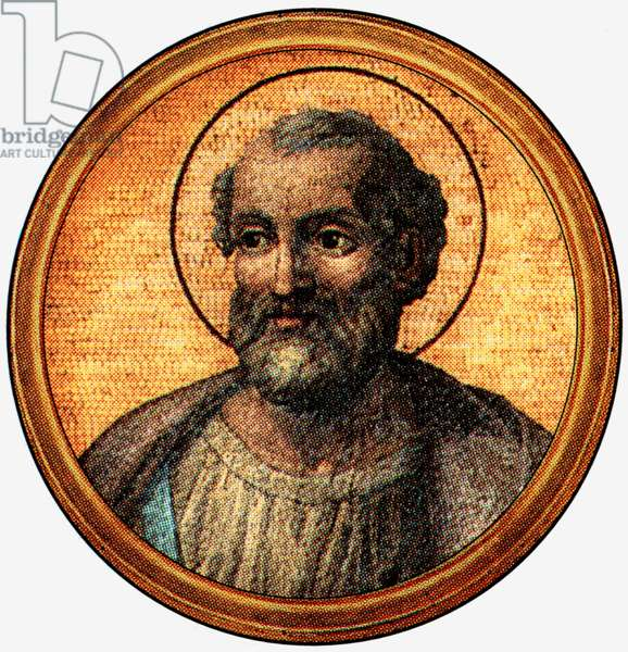 Saint Marcellinus, pope in 296-304, after a medalion of the Basilica of Saint Paul Outside the Walls (-Rome)