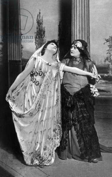 Comedian Sarah Bernhardt (1844-1923) as Phedre, 1893