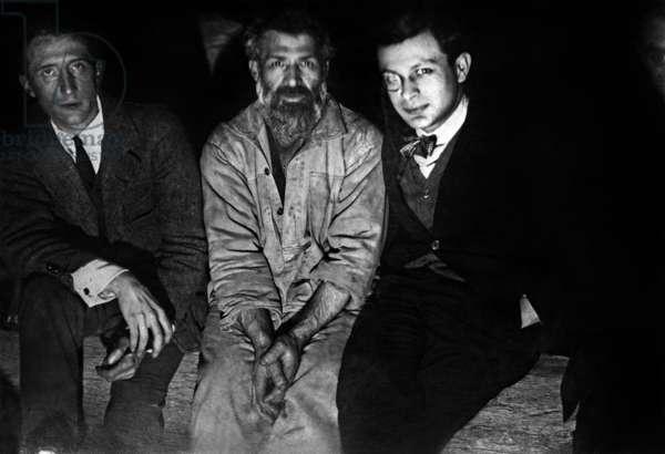Dadaists: Marcel Duchamp, Constantin Brancusi, Tristan Tzara and Man Ray, 1921