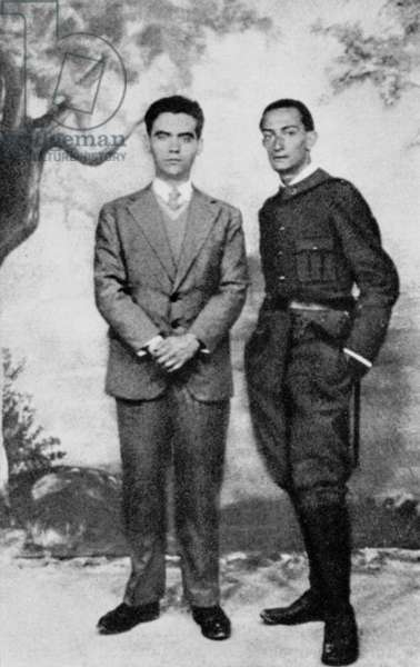 writer Federico Garcia Lorca (1898-1936) and painter Salvador Dali (1904-1989) in Figueras (Spain) 1925