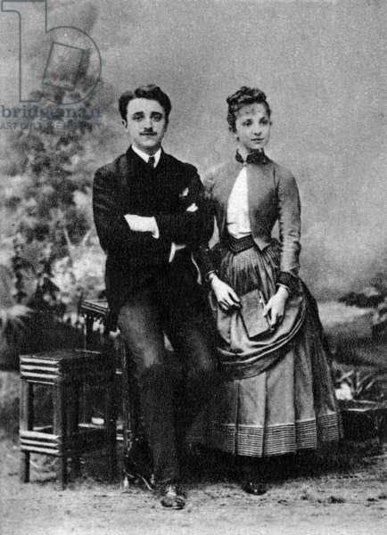 Georges (1868-1925) and Jeanne (1869-1941) Hugo, grandchildren of Victor Hugo, 1884