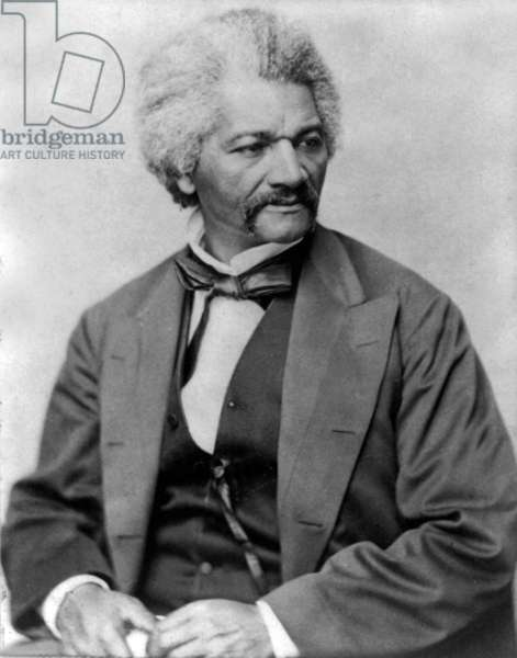 Frederick Douglass: American Slave who became a spokesman of abolitionists, a paper director and an American consul (b/w photo)