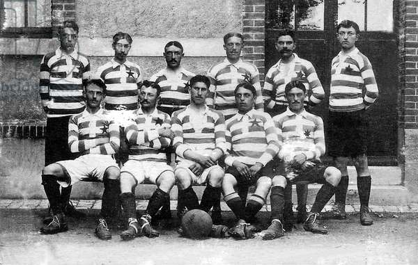 """the """"Sports Star"""" early french soccer team of Tours c. 1910-1911"""