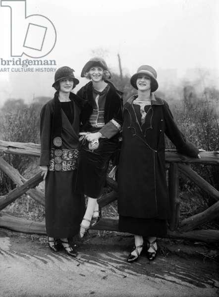 The Isadorables (dancers of Isadora Duncan): Margot (Gretel) Jehl, lizabeth (Lisa) Milker and Anna Denzler c. 1920