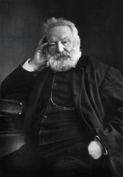 Victor Hugo (1802-1885) french poet and novelist picture by Paul Nadar, 1878