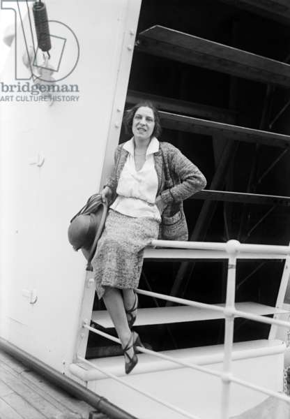 Suzanne Lenglen (1899-1938) french tennis player, here aboard a liner c. 1925