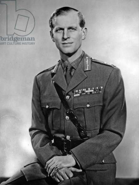 Philip Mountbatten (b1921) duke of Edinburgh, wearing his uniform of Field Marshal of the British Army, 1953