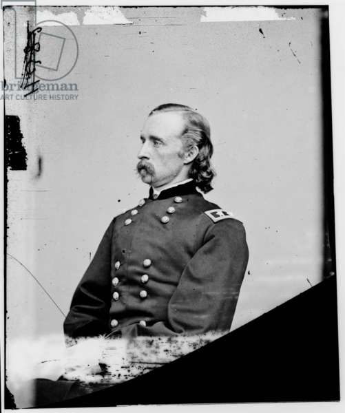 General George Armstrong Custer (1839-1876) Civil War general, he took part in Little Big Horn battle in 1876, c. 1865