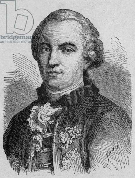 Georges Louis de Buffon (1707-1788) French naturalist, Engraving from a book about sciences (1899)