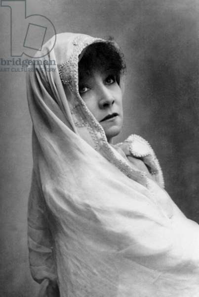 French actress Sarah Bernhardt (1844-1923) as Phaedre, 1893, photo by Nadar