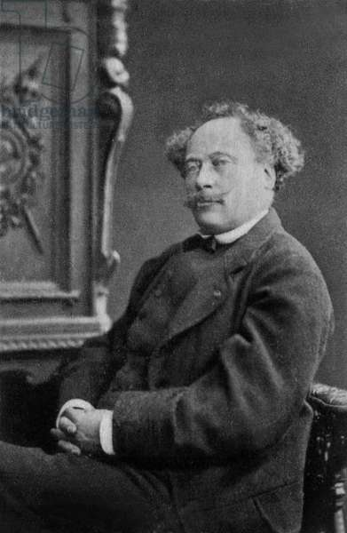 Alexandre Dumas the younger (1824-1895) french writer in 1884