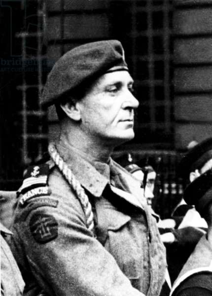 Commandant Philippe Kieffer (1899-1962), french officer who joined the Free French naval Forces in june 1940, he led the 1st marine commandos bataillion during the Normandy Landings in june 1944