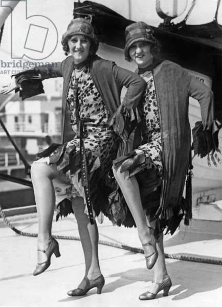 Blame Dolly and Billy Lodge on liner Ventura arriving in San Francisco from Australia dancing Charleston july 7, 1926