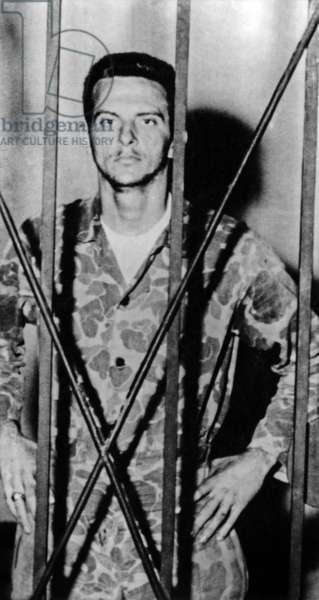 Jose Alfredo Perez San Roman aka Pepe San San Roman (1930-1989) commander of the Brigade 2506 ground troops in the Bay of Pigs Invasion of Cuba in April 1961., here in prison in 1961-1962