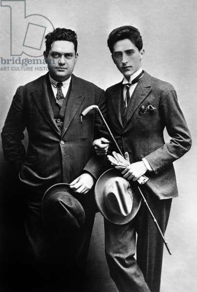 Darius Milhaud (1894-1972) and Jean Cocteau (1889-1963) 1921