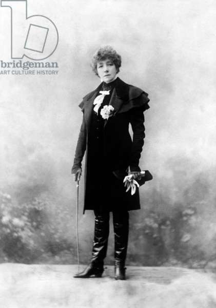 """french actress Sarah Bernhardt (1844-1923) in play """"L'Aiglon"""" by EdmondRostand, 1900"""