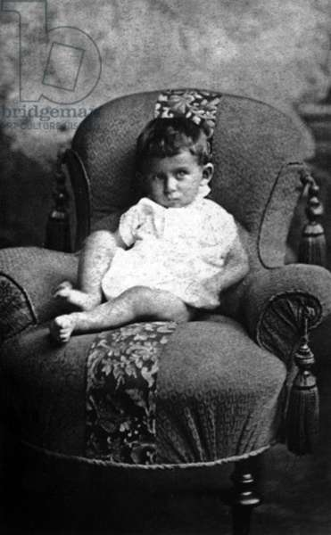 Franz Kafka (1883-1924) czeck writer, here as a baby, 1884