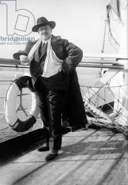 Ignacio Zuloaga y Zabaleta (1870-1945) spanish painter, here aboard a liner c. 1925
