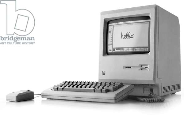 1st Apple Macintosh (Mac) 128K computer, released january 24, 1984 by Steve Jobs
