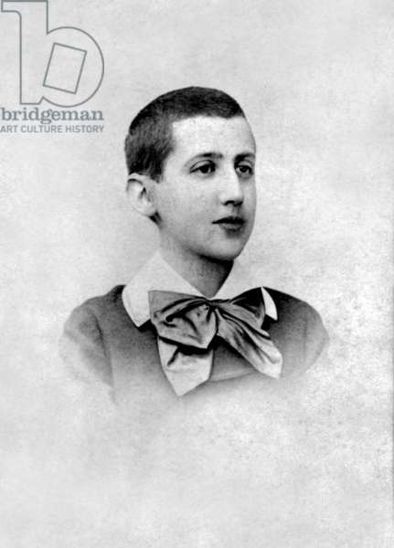 Marcel Proust (1871-1922) french novelist here as a child c.1881, photo Nadar