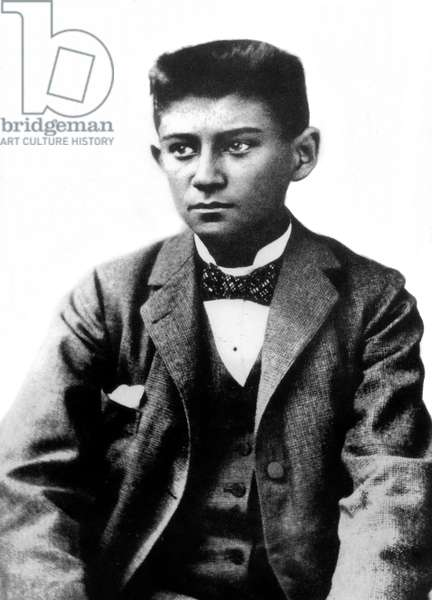 Franz Kafka (1883-1924) czech writer here young c. 1898