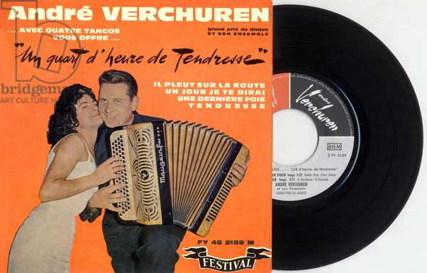 Single sleeve record of french accordion player Andre Verchuren, France, 60's