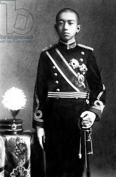 Hirohito (1901-1989) regent in 1921-1926 and then emperor of Japon in 1926-1989 (Showa era) , here c. 1915