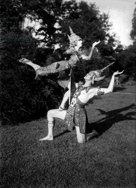 Ted Shawn (1891-1972) american dancer, choreographer, with his wife Ruth St. Denis (1879-1968) c. 1920