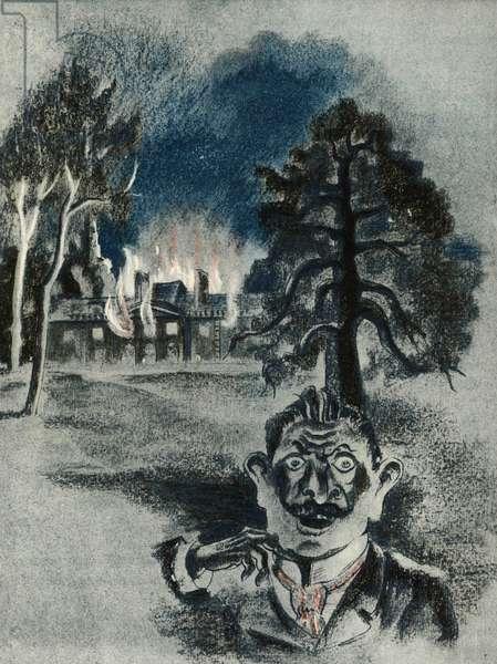 "Illustration for short story by Guy de Maupassant ""Le Horla"", 1938 (colour litho)"