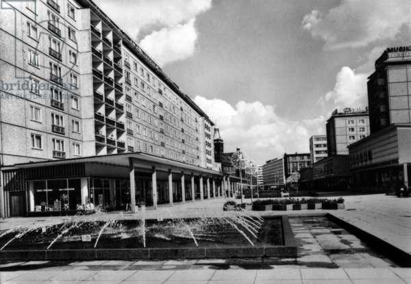 Karl-Marx-Stadt (now Chemnitz) in Saxony, Germany (GDR), march 1975: the Rosenhof