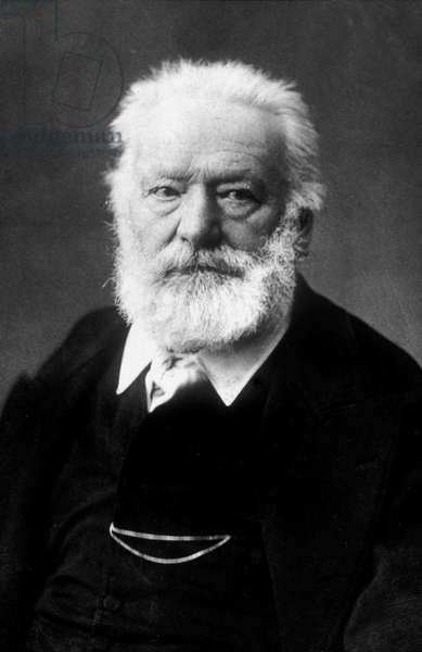 Victor Hugo (1802-1885) french poet and novelist, here c. 1884
