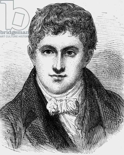 Humphry Davy (1778-1829) english physicist and chemist, engraving, 1899