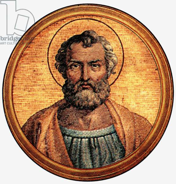 Saint Felix 1st, pope in 269-274, after a medalion of the Basilica of Saint Paul Outside the Walls (-Rome)