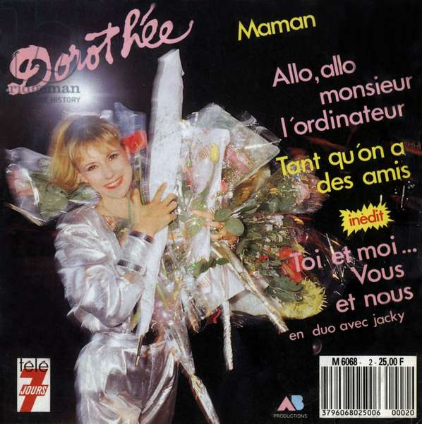 Extended play vinyl record sleeve of french singer Dorothee 1983