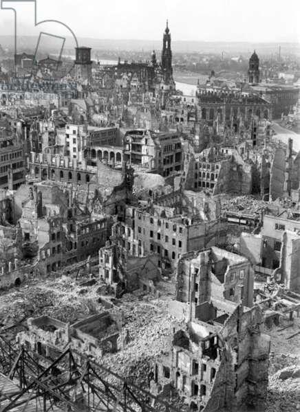 Ruins of Dresden after bombings, 1946