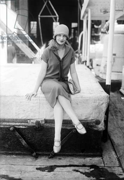 Joyce Barbour (1901-1977) english actress, here aboard a liner, c. 1925