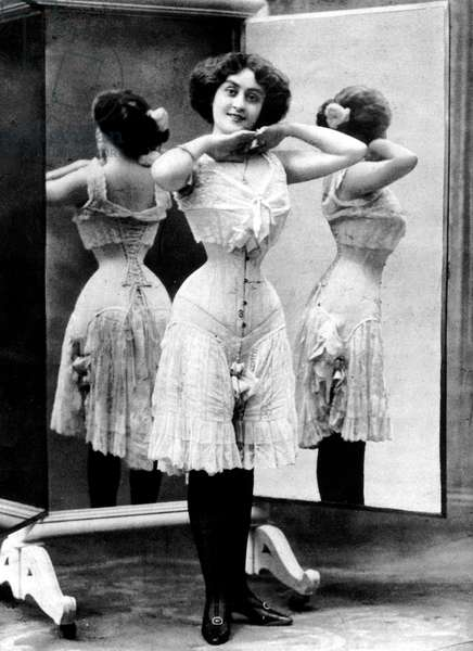Advert for corset