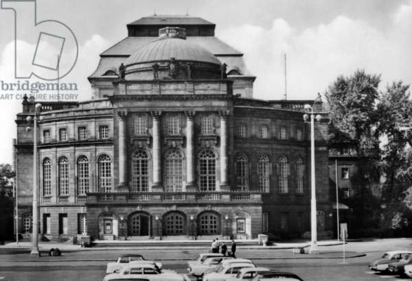 Karl-Marx-Stadt (now Chemnitz) in Saxony, Germany (GDR), march 1975: the Opernhaus